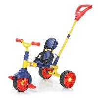 三轮车 宝宝三轮推车脚踏车 3合1轻便型(红色) 轻便款 红色