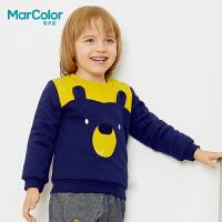 【1件2折】巴拉巴拉旗下马卡乐冬季男宝宝大熊图案印花百搭长袖卫衣