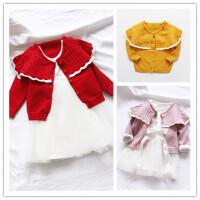 洋气·新品女宝宝毛衣开衫 0-1-2-3岁女童婴儿针织衫周岁外套