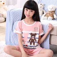 女童睡衣夏季春秋短袖儿童家居服小女孩大童卡通公主宝宝套装