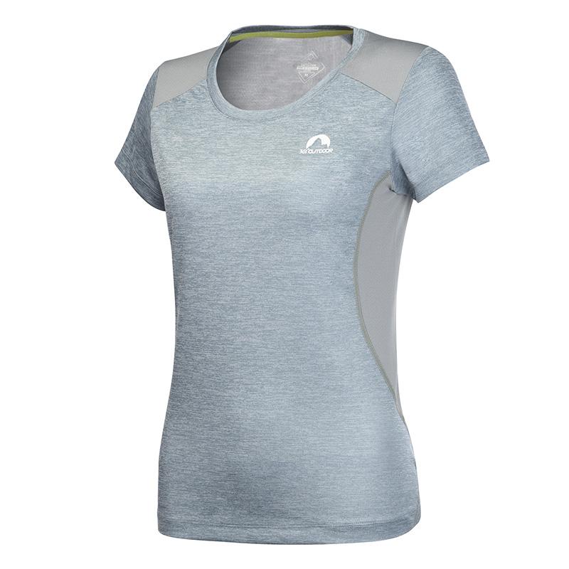 361度女装夏季新款女子短袖半袖透气休闲运动圆领361短T恤