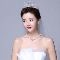 新娘头饰套装皇冠项链耳环三件套婚纱配饰结婚发饰婚礼首饰品