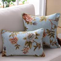 ???欧式抱枕沙发靠垫长方形靠背靠枕正方形腰枕客厅棉麻家用大号床上