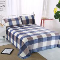 ???床单单件珊瑚绒短毛绒毯子毛毯冬季加绒加厚保暖防滑1.5m1.8m床