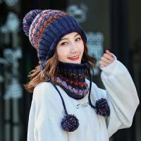 帽子女冬季潮保暖毛线帽骑车女士帽子冬天护耳针织帽