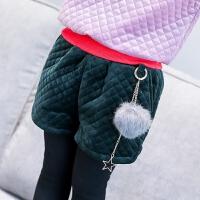 时尚短裤冬季新款女童纯色百搭金丝绒面加厚休闲舒适短裤A6-A21