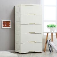 加厚抽屉式收纳箱塑料储物箱婴儿衣柜整理五斗柜窄柜五斗柜整理箱
