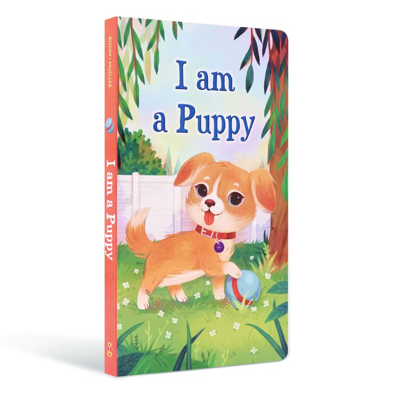 英文原版 我是一只小狗 I am a puppy 我是一只兔子同系列 3-6岁儿童启蒙入门绘本 撕不烂纸板书 亲子互动童书 进口 正版