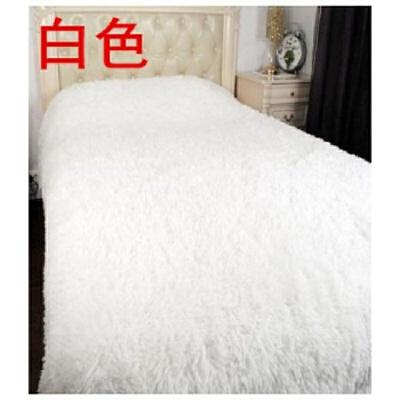 毛毯白色珊瑚绒法莱绒毯子卧室盖毯拍照摄影道具纯色