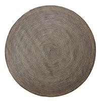 手工黄麻地毯圆地垫 客厅卧室茶几书房现代麻编门垫