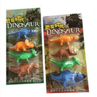 可爱恐龙时代造型橡皮擦 玩具模型 2卡