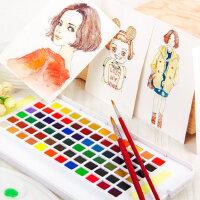 日本樱花泰伦斯固体水彩颜料24色18色30色36色48色水彩画纸套装分装固体套装水粉固彩便携透明水彩