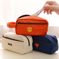 创意文具盒韩国女学生大容量简约可爱帆布铅笔袋文具
