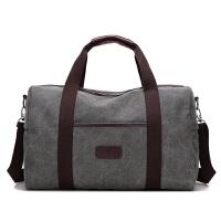 背包男士旅行包手提单肩斜挎大容量帆布休闲出差旅游包短途行李包