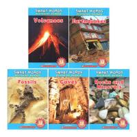 (100减20)学乐常见词科普读本 Scholastic Smart Words Beginning Reader: Earth Science 5册STEM百科科普专业词汇 小学生轻松学单词 全彩