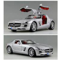 美驰图1 18奔驰SLS车模金属跑车合金汽车模型仿真原厂收藏