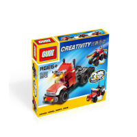 古迪百变文森特拖头 1变3启蒙益智组装拼插拼装塑料积木玩具8109D
