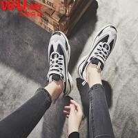 乌龟先森 运动鞋 女士新款老爹鞋女式白色休闲厚底增高学生韩版潮鞋小白鞋