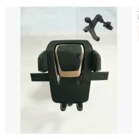 吸盘车载手机支架吸盘式汽车志吸盘多功能仪表台式汽车手机支架 黑色 金圈+出风口三用支架