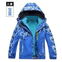 儿童冲锋衣两件套防水迷彩保暖登山服