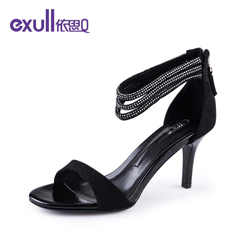 exull/依思Q夏新凉鞋女酒杯跟女鞋包跟后高跟鞋