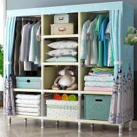 衣柜简易布衣柜布艺加粗加固钢架组装折叠衣橱收纳简约现代经济型 单门 组装