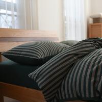 新品秒杀无印针织棉四件套 全棉天竺裸睡床上用品 纯棉简约床单被套1.8m米