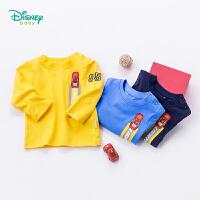 迪士尼Disney童装 男童简约休闲肩开长袖T恤183S1056