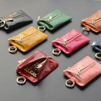 卡包零钱多功能真皮钥匙包女士迷你大容量韩国可爱软小锁匙扣