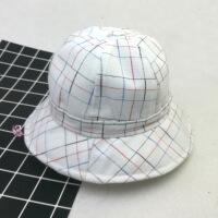 帽子儿童盆帽3-7岁春夏天防晒遮阳帽韩版条纹小孩渔夫帽