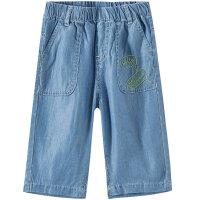 【1件3折价:53.7,可叠券】moomoo童装男童七分牛仔裤