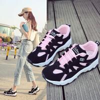 新款初中学生休闲网面透气运动鞋女孩韩版百搭轻便跑步旅游鞋