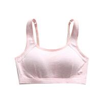 内衣女无钢圈学生高中少女薄款文胸聚拢定型胸罩抹胸式小背心 粉色 626