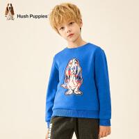 【2件3折价:119.7元】暇步士童装男童卫衣冬装新款儿童一体绒上衣宝宝长袖套头衫