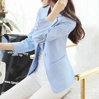 2018新款秋季小西装外套女士气质淑女长袖韩版时尚显瘦修身西服