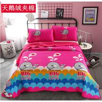 ???床盖加绒双面绒床单加厚夹棉珊瑚绒毛毯法莱绒秋冬毛毯垫子
