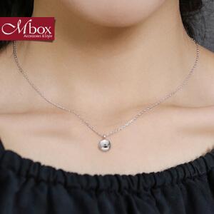 新年礼物Mbox项链 女韩国版原创采用S925银时尚简约锁骨项链颈链 幸运时刻
