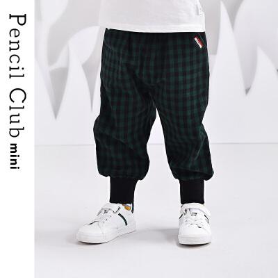 【2件3折价:41.7元】铅笔俱乐部童装小童格子长裤儿童小童休闲运动裤时尚2021春秋新款