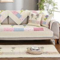 沙发垫纯棉布艺防滑坐垫简约四季全棉皮沙发巾套3人通用组合