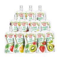 亨氏果汁泥 超金小白包 9种口味 12袋装