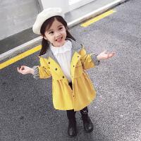 女童风衣外套春秋2018新款洋气中长款韩版儿童秋季上衣女宝宝秋装