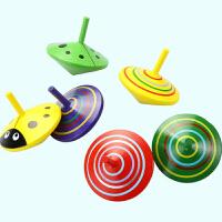 adfenna小孩子木制 木质玩具6个装小陀螺手动旋转