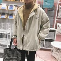 情侣款男士冬季羊羔绒外套棉袄韩版潮流加厚棉衣工装短款衣服