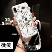 苹果6手机壳壳挂绳卡通iphone7保护套7PLUS手机壳8PLUS壳PLUS 6/6s (4.7)-微笑