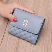 新款韩版小钱包女短款钱夹三折简约折叠皮夹多功能潮