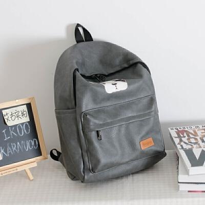 pu皮包双肩包书包男女包韩版背包休闲电脑背包时尚潮流学院风 发货周期:一般在付款后2-90天左右发货,具体发货时间请以与客服协商的时间为准