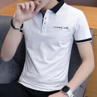 男士短袖t恤衬衫领韩版潮流polo衫夏季翻领半袖体��2018新款衣服