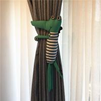 新品卡通创意鳄鱼公仔窗帘扣窗帘夹绑带可爱田园挂饰生日礼品