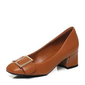 Belle/百丽2017秋季新品专柜同款油皮胎牛皮皮带扣女单鞋BWI02CQ7