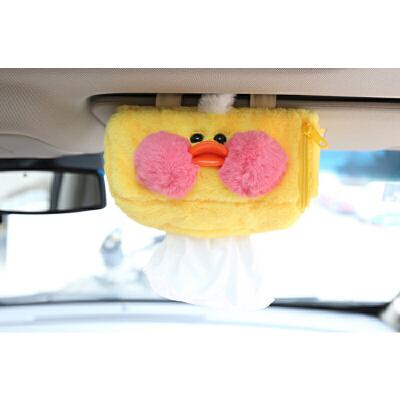 汽车纸巾盒挂天窗式遮阳板式纸巾盒套可爱卡通女士车载抽纸盒